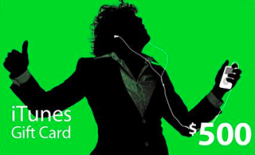 $500 US iTunes card